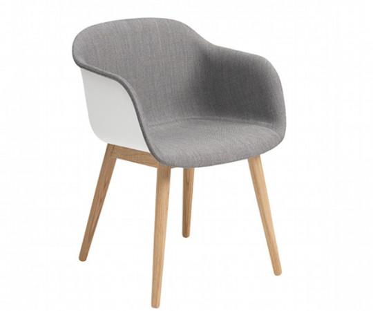 Muuto Fiber Chair Wood - Arm - Front polstring