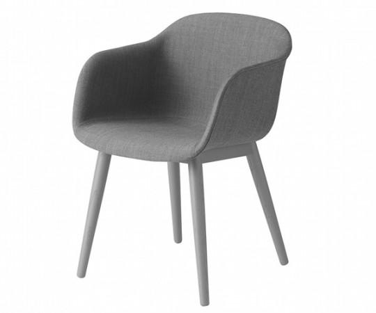 Muuto Fiber Chair Wood - Arm - Stof