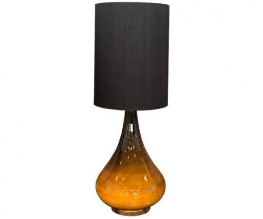 renata lampe flavia sort silke skærm