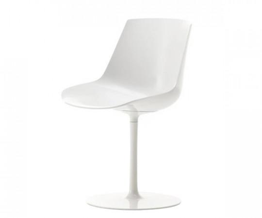 Mdf Italia Flow Chair Søjleben - Blank Hvid