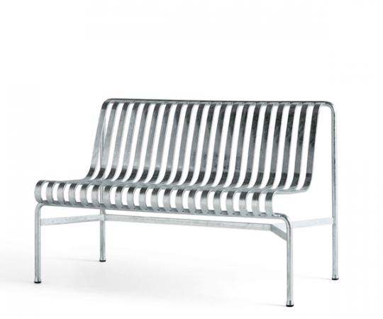HAY Palissade Dining Bench - Galvaniseret - Uden Arm
