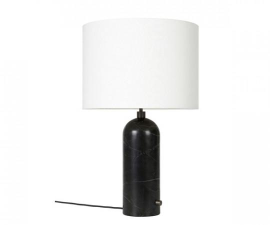 Gubi Gravity bordlampe sort marmor