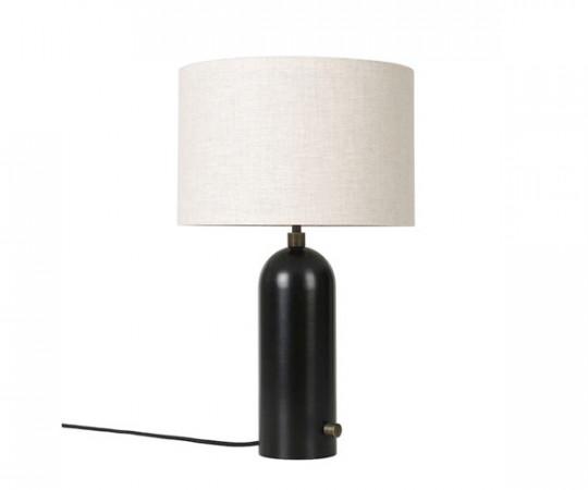 Gubi Gravity bordlampe stål kanvas slukket