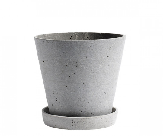 HAY Flowerpot with Saucer - Grey - Large