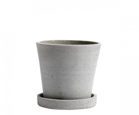 HAY Flowerpot with Saucer - Grey - Small
