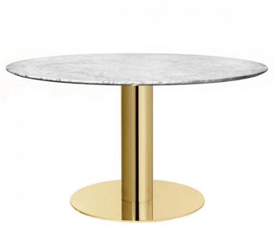 Gubi 2.0 Spisebord Rund Marmor - Messing - Ø 110 cm