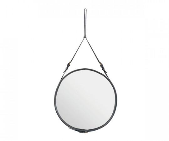 Gubi Adnet Circulaire Mirror Black - Ø70cm. - Large