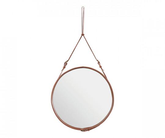 Gubi Adnet Circulaire Mirror Tan - Ø70cm. - Large