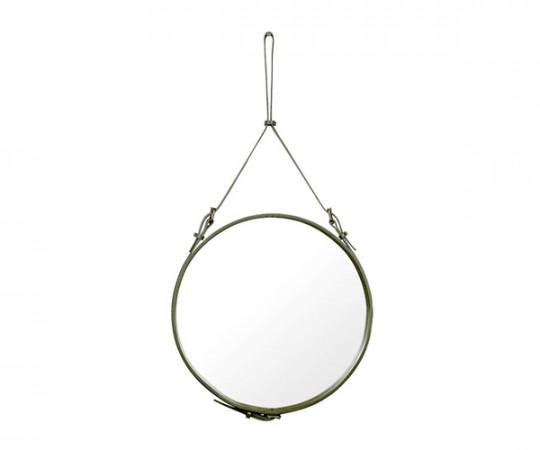 Gubi Adnet Circulaire Mirror Olive Green - Ø58cm. - Medium