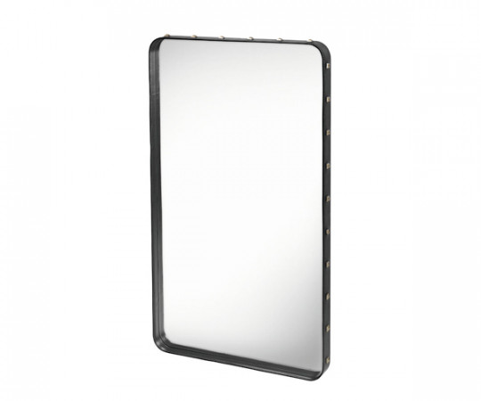 Gubi Adnet Rectangular Mirror Black - Medium