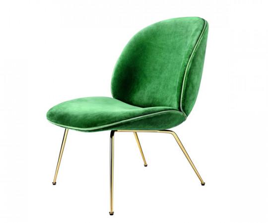 Gubi Beetle Lounge Chair - Velluto Cotone Velour