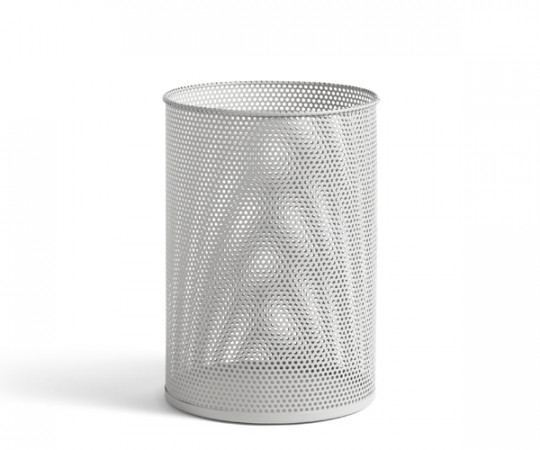 HAY Perforated Bin - Papirkurv - Light Grey - Large