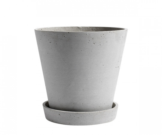 HAY Flowerpot with Saucer -X-Large - Black