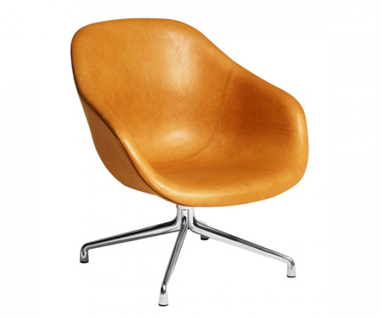 HAY About A Lounge Chair Low (AAL81) - Silk Læder