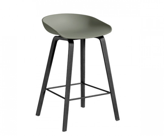 HAY About a Stool (AAS 32) Dusty Green / Sort stel