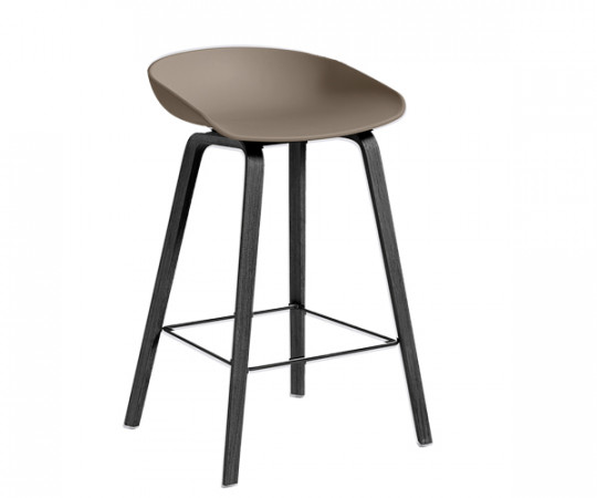 HAY About A Stool AAS 32 khaki / sort
