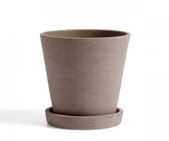 HAY Flowerpot with Saucer - terracotta - medium