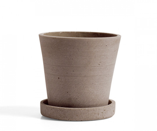 HAY Flowerpot with Saucer - terracotta - Small