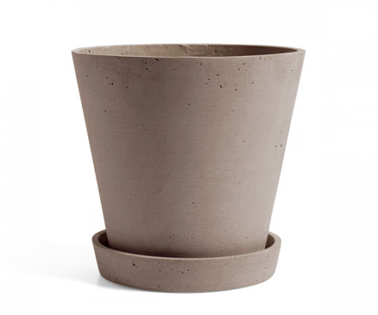 HAY Flowerpot with Saucer - terracotta - xlarge