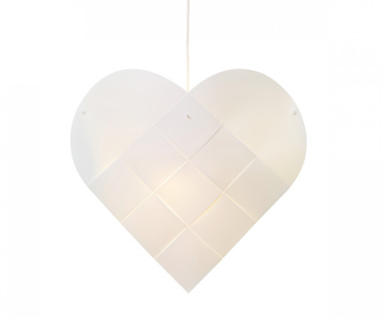 Le Klint Heart - Medium - Hvid Ledning