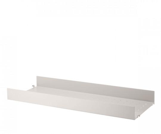 String Metalhylde Høj Kant 78x30cm - Beige