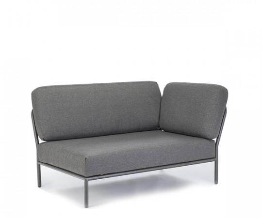 HOUE Level lounge - hjørnemodul - højre vendt - dark grey