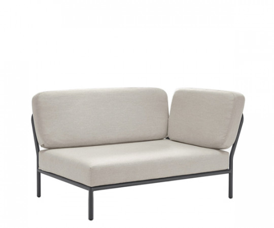 HOUE Level lounge - hjørnemodul - højre vendt - graumel chalk