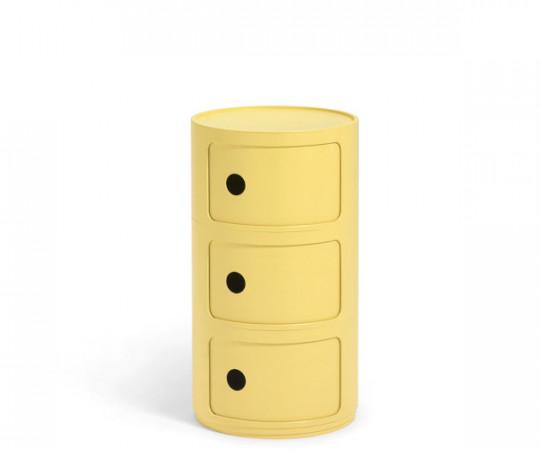 Kartell Componibili yellow 3 rum