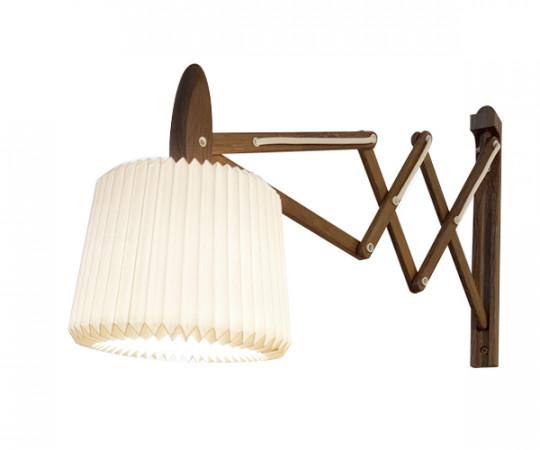 Le Klint 335-120 sax væglampe røget eg snowdrop