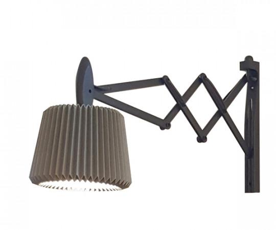 Le Klint 335-120 sax væglampe sort eg snowdrop