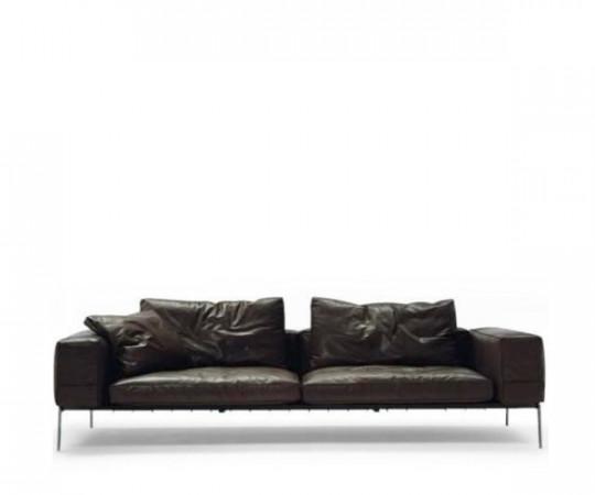 Flexform Lifesteel Kampagne sofa - Sort