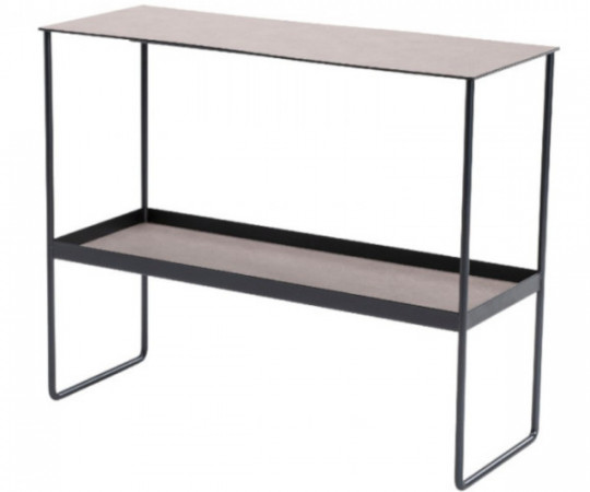 linddna konsolbord varmgrå læder
