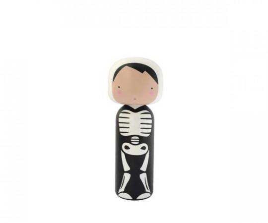 Lucie Kaas x Sketch Inc. - Kokeshi Skeleton Træfigur