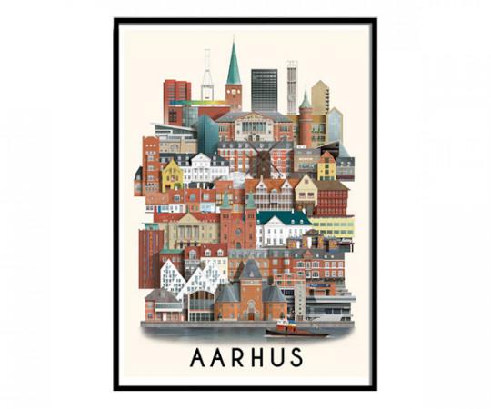 Martin Schwartz Aarhus 50x70cm Poster