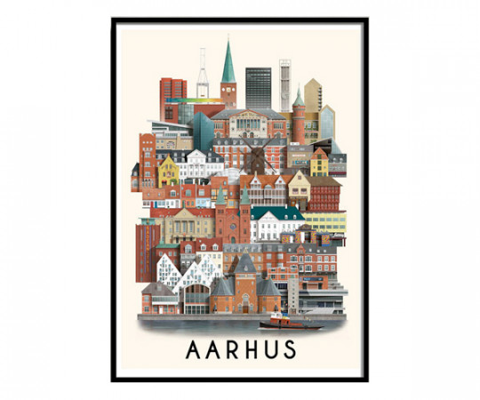 Martin Schwartz Aarhus A3 Poster