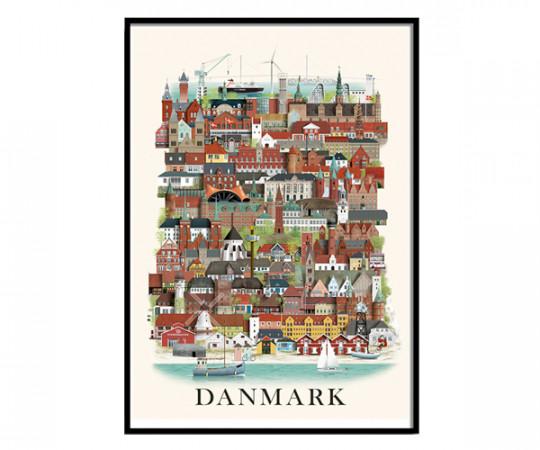 Martin Schwartz Danmark 50x70cm Poster