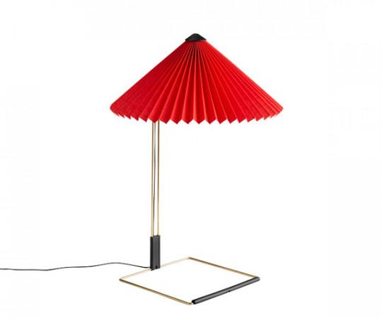 HAY Matin Bordlampe - Large - Lys Rød