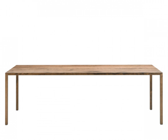 MDF Italia Tense Wood Table - 100x220cm