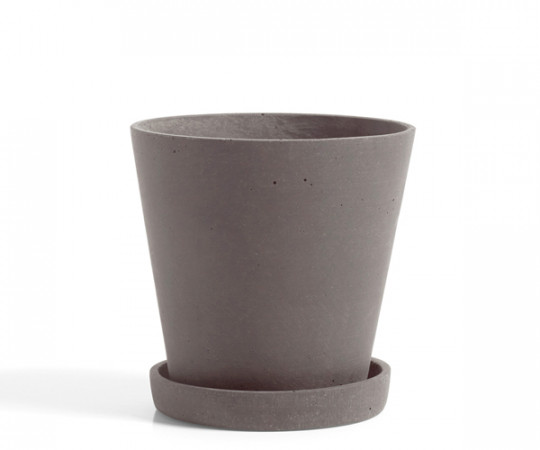 HAY Flowerpot with Saucer - plum - Medium