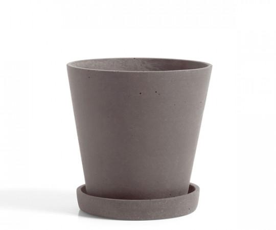 HAY Flowerpot with Saucer - plum - Medium