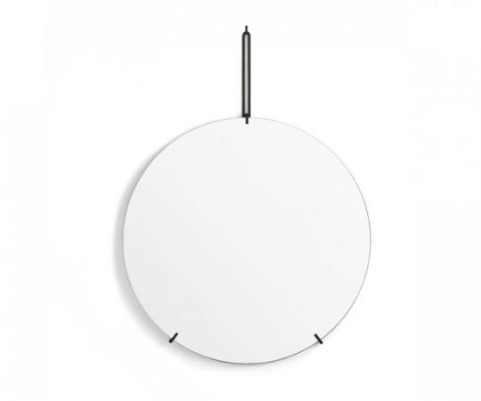 Moebe Wall Mirror - Messing - Dia. 50cm - Sort