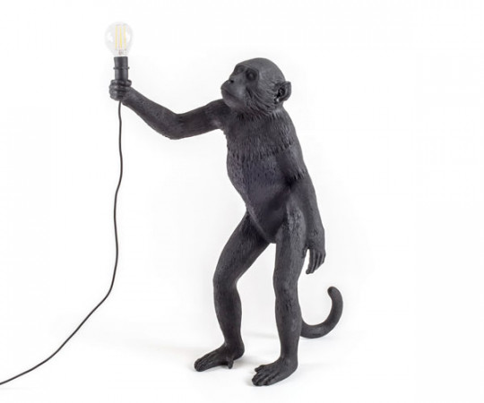 Seletti Monkey lamp - Standing - Black