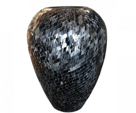 mosaik krukke sort grå