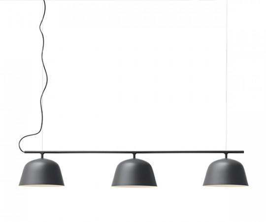 Muuto ambit rail lampe pendel sort