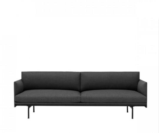 Muuto - Outline Sofa - 3-pers. - Remix 163 - Stof