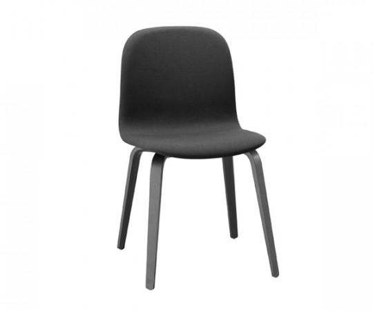 Muuto Visu Chair - Black Woodbase - Steelcut trio 190