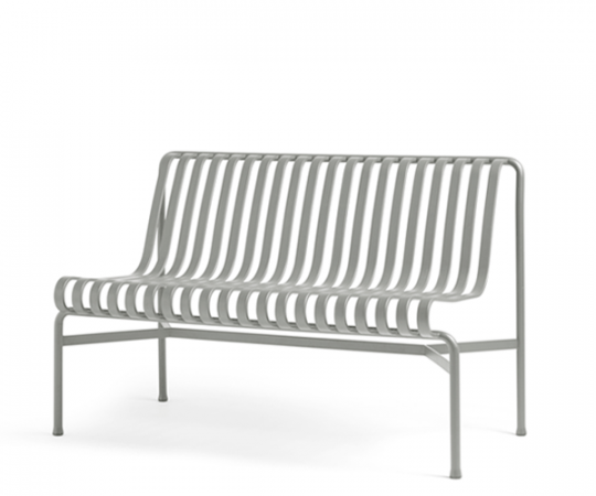HAY Palissade Dining Bench - Sky Grey - Uden Arm