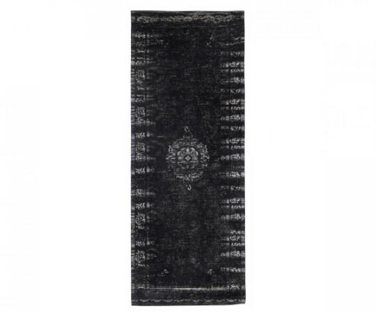 nordal grand løber gulvtæppe grå sort 200x75