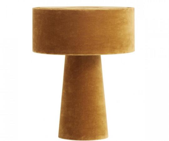 nordal mushroom sennep velour bordlampe