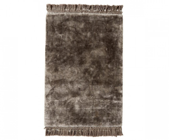 nordall noble varmgrå viscose tæppe